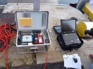 Měříci aparatura pro zjištění koncentrace stopovací látky